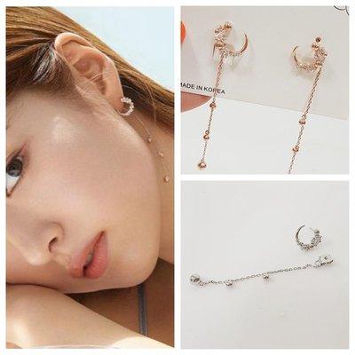 ☆~Candy Chi~ Shop~☆ 韓國進口~申世京~精緻星月可拆式長墜耳環~預購