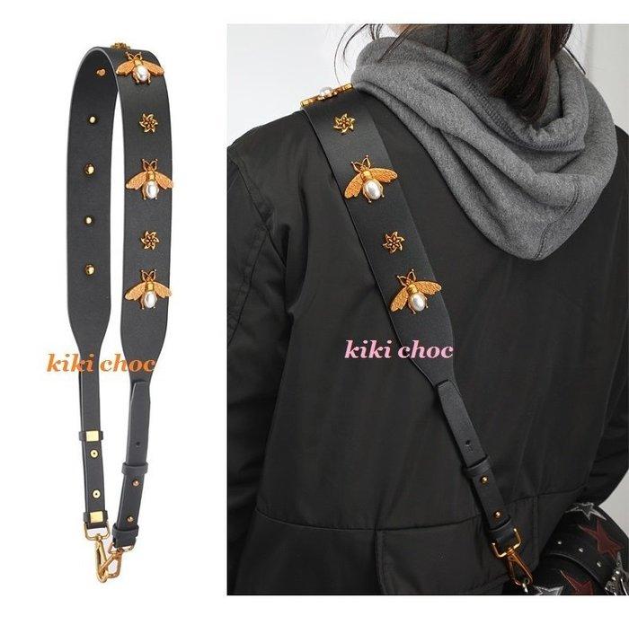 現貨♥kiki choc♥韓 珍珠 花朵 蝴蝶蜜蜂復古銅金色金屬扣環包包替換可拆卸肩揹帶/寬背帶/斜揹帶/包包配件 MK