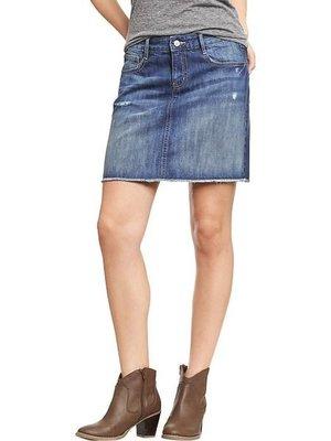 ╭☆°芒果衣櫃 全新美國 Old Navy Women's Distressed Denim Skirts SIZE M  8號