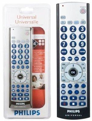 #26,4合1 世界名牌 PHILIPS SRU3004/27 遙控器,大按鍵! 電視TV VCR DVD SAT/CB