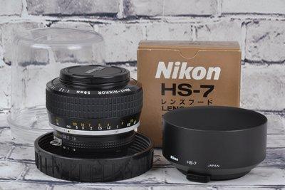 【品光攝影】 NIKON Noct-Nikkor 58mm F1.2 手工打磨非球面鏡片 夜之眼 FL#62701T