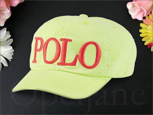 官網 Polo Ralph Lauren Hat 女孩款 Logo淺綠色運動休閒鴨舌帽/棒球帽高爾夫球帽愛Coach包包