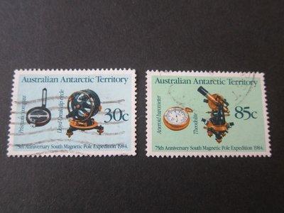 【雲品】澳洲南極洲領地Australia Anarctic Territory 1984 Sc 57-8 set FU 庫號#56955