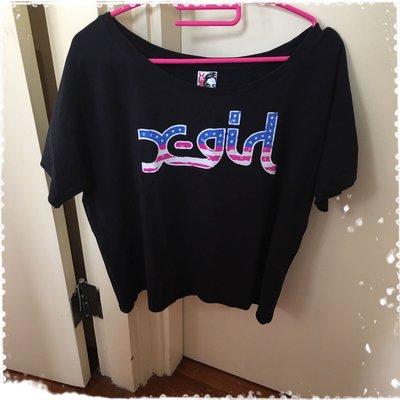 X Girl 黑色 短袖 Tee