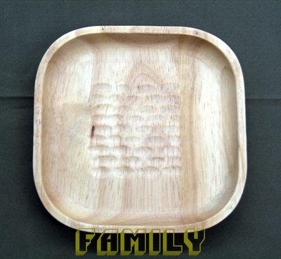 *新品上市*日式居家 天然木 木質餐具 - 手工家居方型碟 -