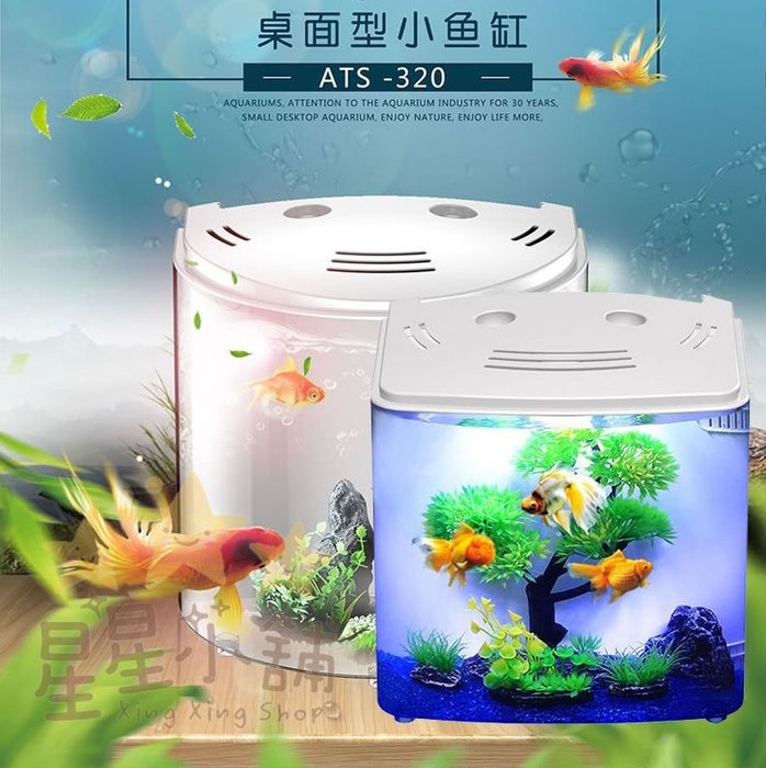台灣現貨 迷你型USB魚缸 背部過濾缸 桌上小魚缸 小魚缸 免換水 鬥魚 孔雀魚 魚缸 USB