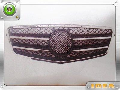 泰山美研社 D7334 BENZ 朋馳 W212 09-13年 AMG 鍍鉻黑 水箱護罩
