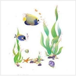 小妮子的家@手繪水移畫/古典家具彩繪轉印貼紙/玻璃貼/瓷磚貼75-33