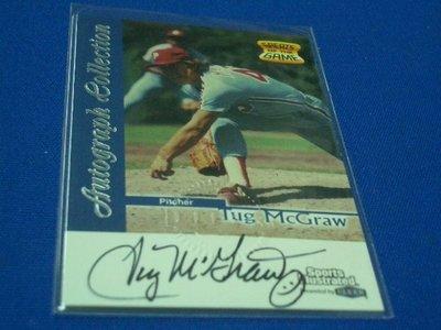 阿克漫18-45~MLB-1999 Sports Illustrated 簽名卡Tug McGraw只有一張