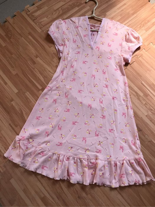 紫滕戀日系甜美睡衣 可愛天使帶帽甜美裙裝現貨免等