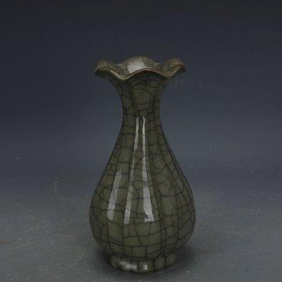 ㊣姥姥的寶藏㊣ 宋代官窯青釉鐵胎刮徑玉壺春瓶  出土古瓷器手工古玩古董收藏