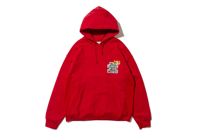 "[ LAB Taipei ] BlackEyePatch "" HOT LABEL HOODIE "" (Red)"