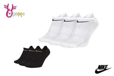 NIKE 襪子 中大童 成人男女款 親子 短襪 運動襪 三雙入 SX415 SX416#黑色#白色OSOME奧森鞋業