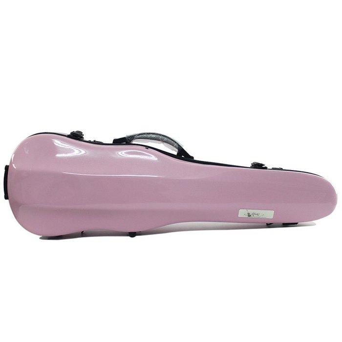 【三益琴行】粉紅色小提琴硬盒