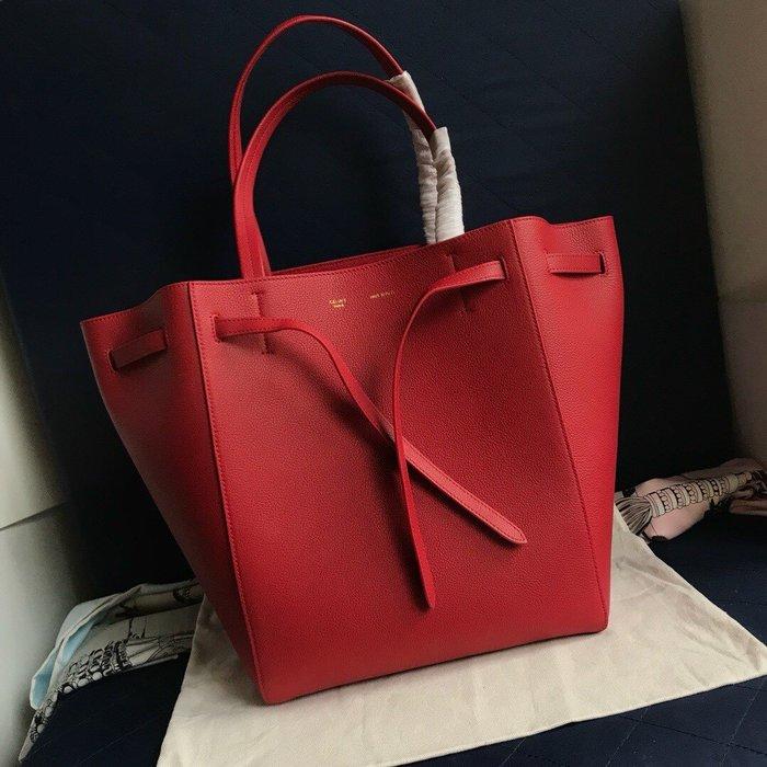 Melia 米莉亞代購 19ss Celine Cabags  phantom 手提購物包 抽繩水桶包 內里磨沙皮 紅色