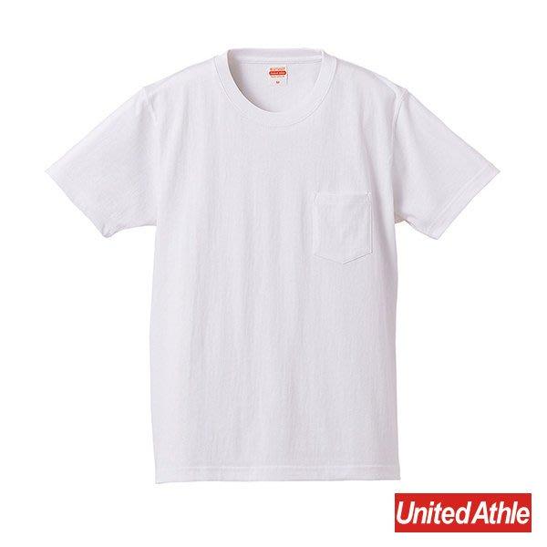 『United Athle』4253-01 7.1oz T- Shirt 重磅 厚質 素面 圓領 口袋 短袖 白色