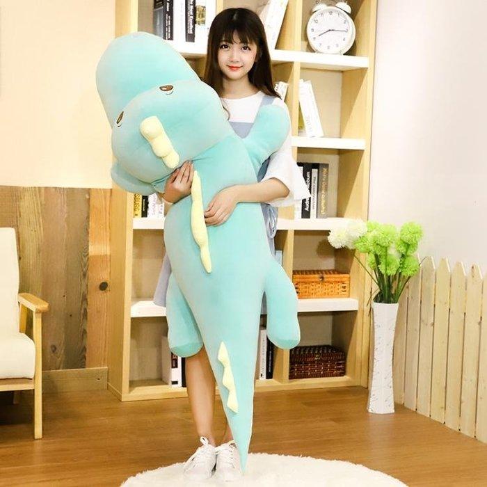 可愛萌恐龍毛絨玩具鱷魚公仔布娃娃韓版抱枕搞怪睡覺懶人玩偶女孩