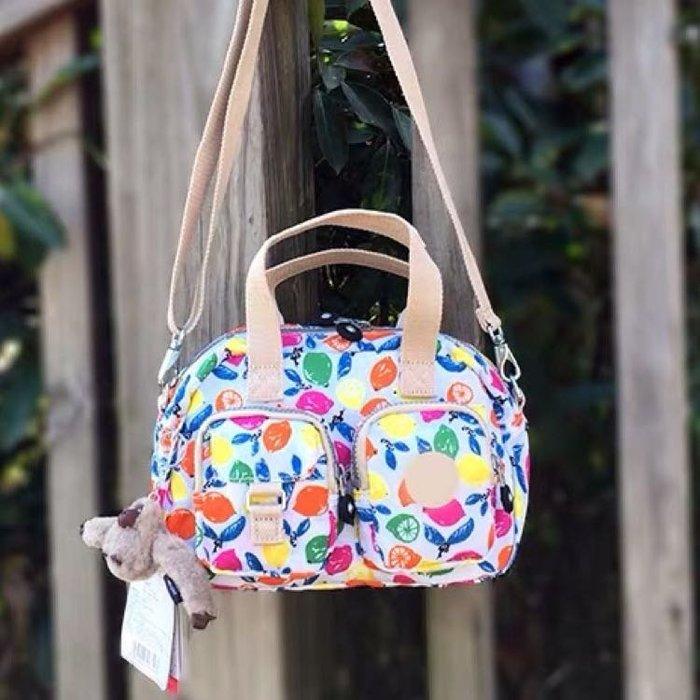 Kipling 猴子包 彩色檸檬 K14259 小號 多夾層拉鍊款輕量手提肩背斜背包 限時優惠 防水