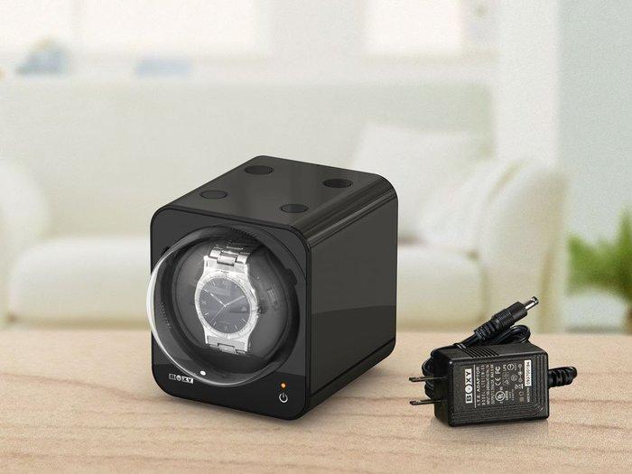 金鐸精品~B002~BOXY FANCY BRICK 黑色 手錶自動上鍊盒