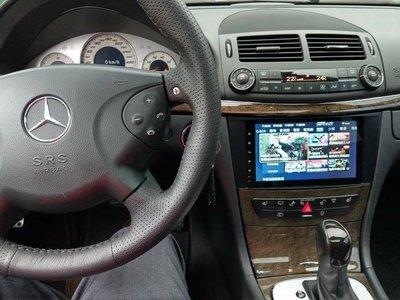 賓士 W211 歐美日規 原車無螢幕 升級9吋  觸控安卓主機*正版導航*You Tube*USB*網路電視*線上音樂