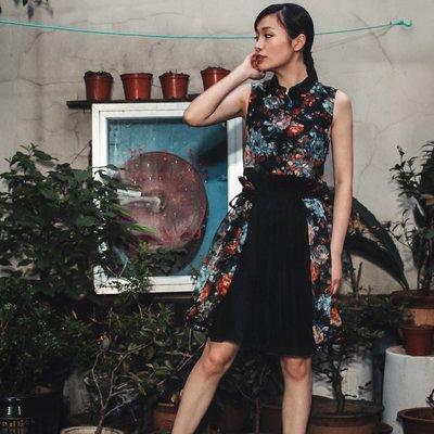 SMACHIC studio 獨立設計師品牌 / 富江日記。靈氣少女的復古印花小洋裝