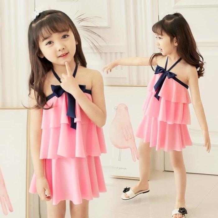 佑游兒童泳衣女孩中大童連體公主裙式可愛韓國防曬小孩女童游泳衣