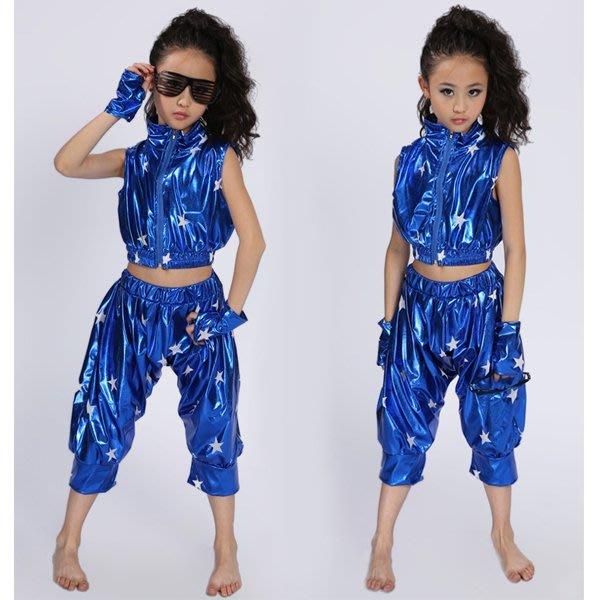 5Cgo【鴿樓】會員有優惠 39128412691 兒童現代舞表演服裝亮片男童女童爵士舞街舞演出服勁舞搖滾 兒童舞衣