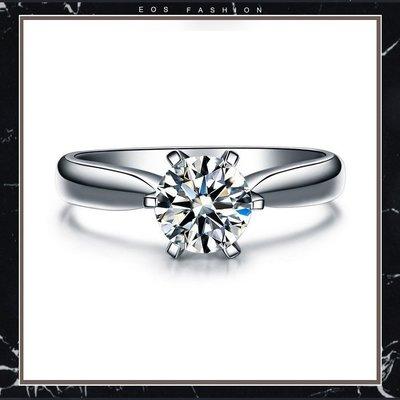 (直購價非活動價)EOS 時尚精品  925純銀1克拉美國知名品牌款結婚戒對戒 求婚戒 婚紗設計師款 流行飾品婚宴婚顧