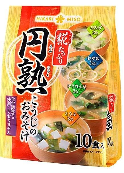 +東瀛go+ 円熟 麴熟即食綜合味噌湯10食 4種口味  HIKARI MISO 即席完熟 日本原裝進口