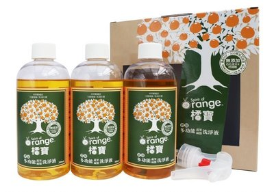 阿邦小舖 大侑 橘寶植萃蔬果洗淨劑 300ml 3瓶入