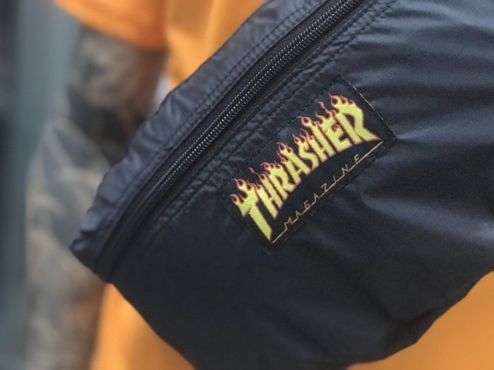 XinmOOn THRASHER FLAME PACKABLE WAIST BAG TSO182C400401 側背腰包