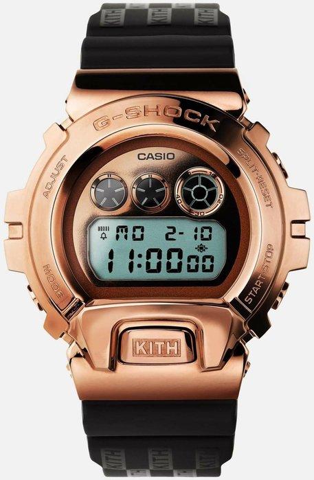 CASIO G-SHOCK x Kith 聯名 手錶 紀念錶  GM6900KTH 4CR 金屬錶殼 玫瑰金 方格 白色 黑色