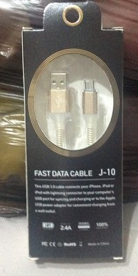 Fast Data Cable J-10 USB 3.0 手機快速充電線 全新品