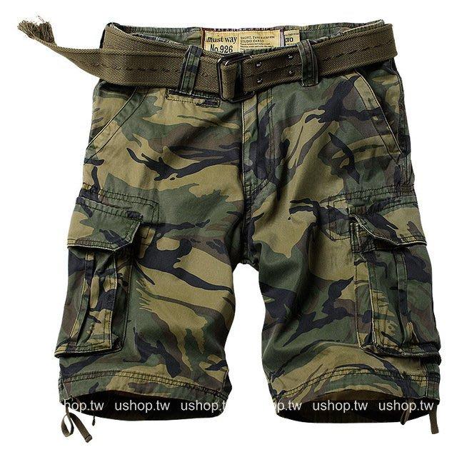 軍旅迷彩褲多口袋叢林軍裝褲