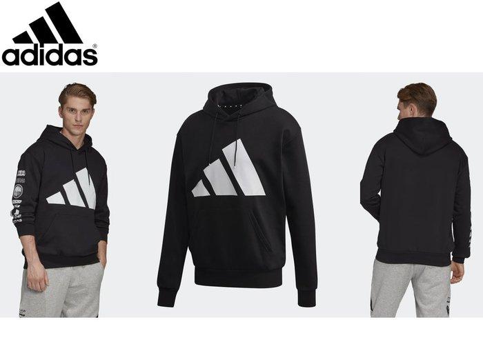 宏亮 附發票 Adidas 愛迪達 男 衣服 連帽T恤 運動帽T 上衣 尺寸S~XL 保暖 PACK圖形 EA0370