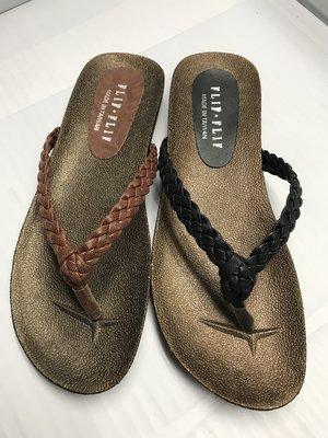 【便宜GO鞋城】MIT簡約編織夾腳拖鞋(黑,咖)《323》