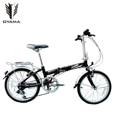 免運+3大贈品【OYAMA】歐亞馬(神馬M100R1)20吋 鋁合金折疊車(黑色)-【台中-大明自行車】