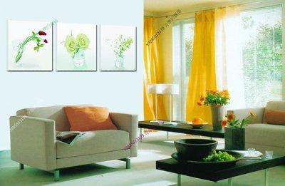 【50*50cm】【厚0.9cm】清涼一夏-無框畫裝飾畫版畫客廳簡約家居餐廳臥室牆壁【280101_051】(1套價格)