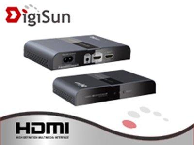 喬格電腦 含稅含運~DigiSun EH340 HDMI 電力線影音訊號延長器~最長300公尺