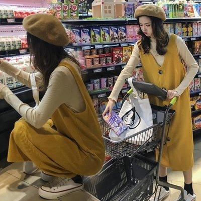 孕婦連身裙春裝套裝時尚款2019早春新款韓版中長款春款外出兩件套