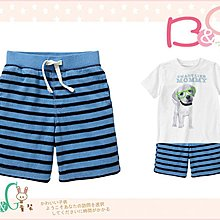 【B& G童裝】正品美國進口GAP Striped knit shorts 淺藍色條紋棉質短褲2,3yrs