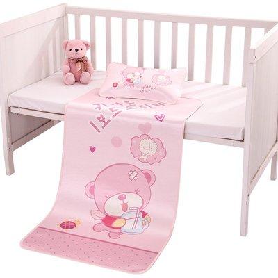 【萬客隆】席四季通用透氣冰絲專用幼兒園枕頭夏季寶寶床新生兒童嬰兒床