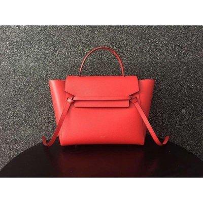 Celine Belt Bag 鯰魚包 Mini Belt Bag 中款28CM 紅色