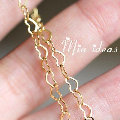 衣萊時尚-優質銅鍍厚金 精致心型鏈條 ...