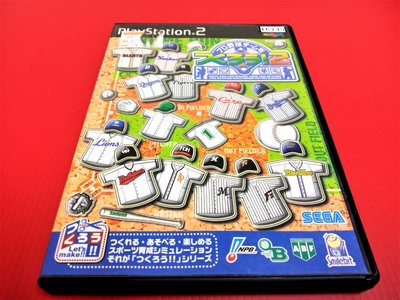 ㊣大和魂電玩㊣ PS2 模擬棒球2{日版}編號:R2-懷舊遊戲~PS二代主機適用