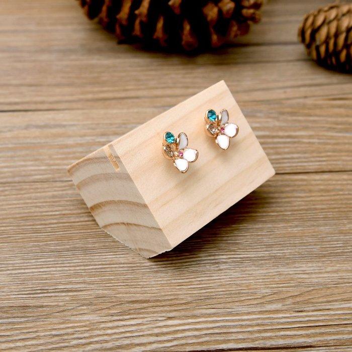 聚吉小屋 #貝衡創意原木耳釘耳墜耳環戒指展示架銀飾品拍攝道具櫥柜展示歐式