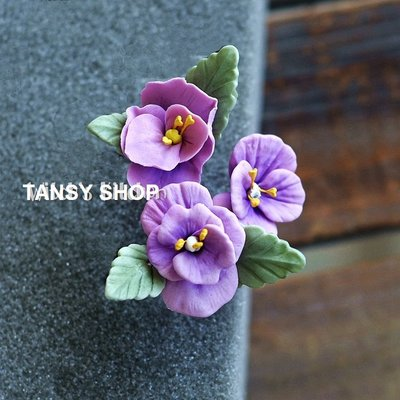 ~TANSY SHOP~翻糖模具滿三件打八折! 植物 紫羅蘭 仿真花瓣 立體 干佩斯 硅膠 矽膠模具 翻糖DIY烘焙工具