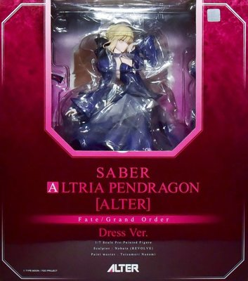 日本正版 ALTER Fate/Grand Order FGO 黑Saber Alter 洋裝 1/7 公仔 日本代購