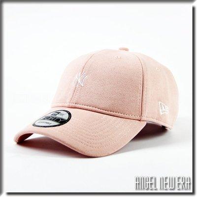 【ANGEL NEW ERA 】MLB NY 紐約 洋基 粉紅 小Logo 棉布 秋冬 老帽 鴨舌帽 穿搭 ootd
