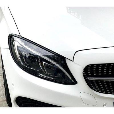 【JR佳睿精品】賓士 C-Class Estate S205 14-UP 烤漆黑 大燈框 前燈框 台灣製 改裝